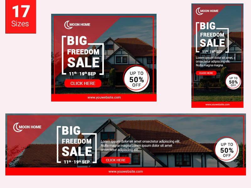 home banner set  real estate  by pond design on dribbble