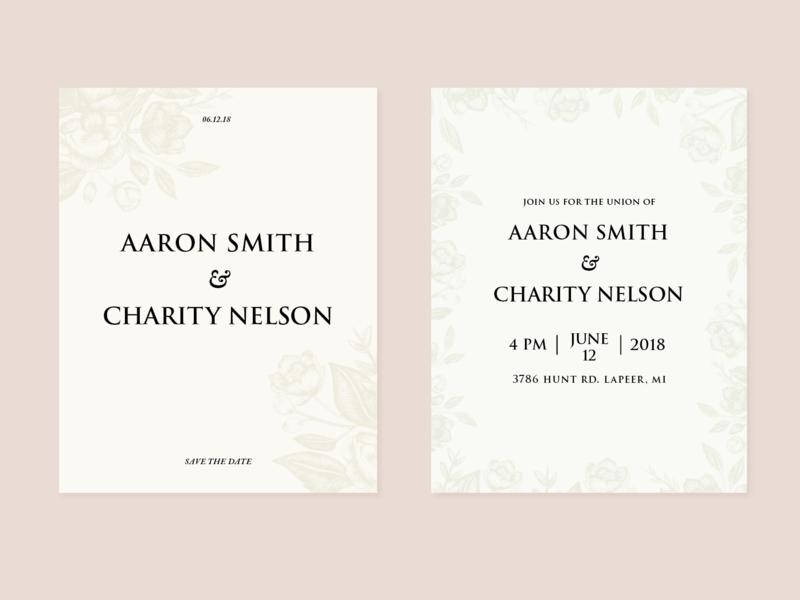 Invitation Suite | Aaron + Charity wedding invites wedding illustration moodboard identity brand typography branding graphic design art direction