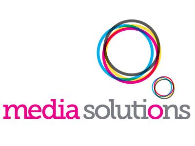 Media Solutions logo logo colour color
