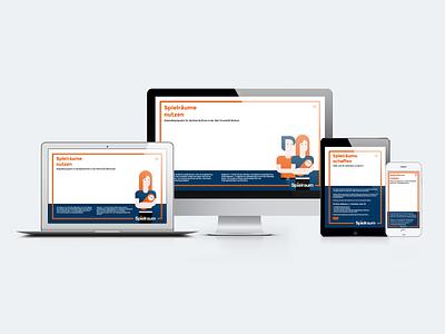 Website design for 'Spielraum' parents scholarship university students design ui vector illustration graphic design branding flat website design
