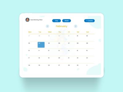 An Interactive Calendar - Month View