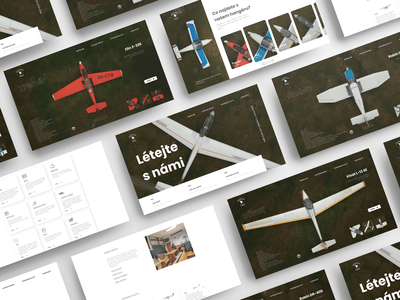 Flying club web design showcase website webdesign uidesign airplane aircraft