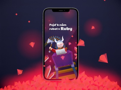 Ruby on Rails hiring post rubyonrails illustraion design instagram stories