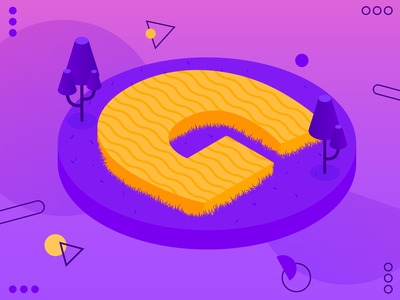 36 days of type 08 — G branding flatdesign flat design typography color vector illustration