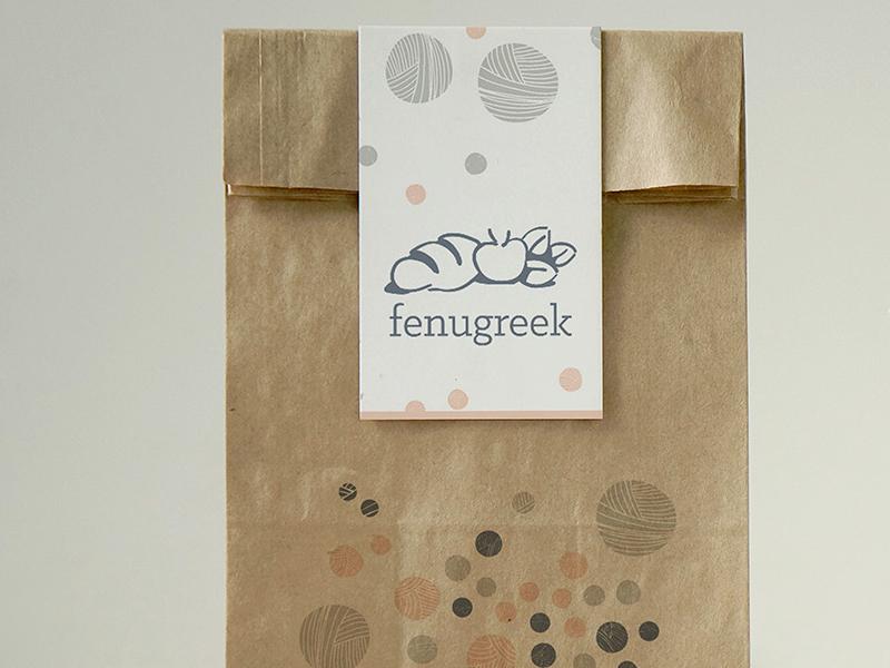 Fenugreek wordmark logo iconmark food bread branding bakery