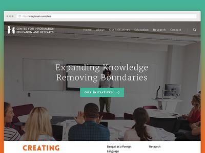 CIER Website minimal client nonprofit website branding