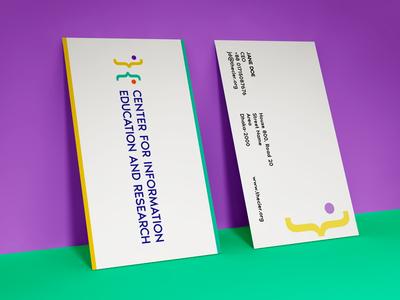 CIER Business Card Mockup non profit wip demo simple colorful minimal business card