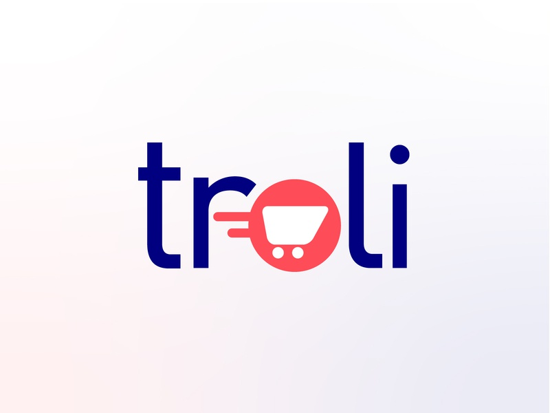 Troli - Brand Identity delivery groceries app shopping coral colorful minimal uk brand and identity logo