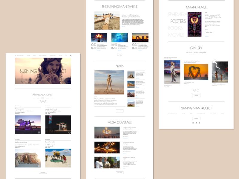 Burning Man Project website minimal web ux ui typography design branding