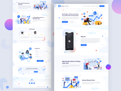 Astro Trading landing page uiuxdesign homepage design trading landing page illustration website ui deisgn ui  ux design ux designer landing  page