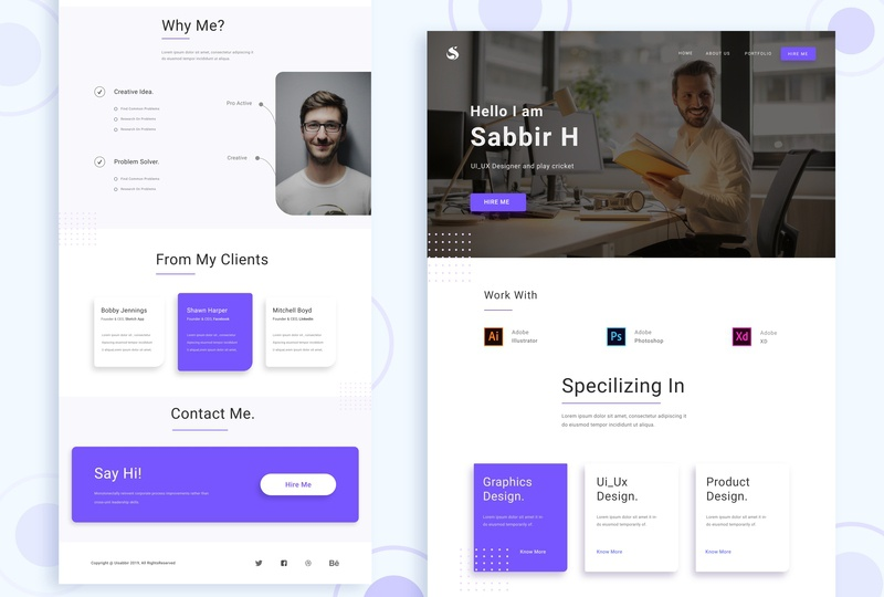 User Profile Landing Page ux designer landing  page uiuxdesign uiux designer ux-design ui deisgn user profile