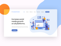 Marketing Agency Header Concept