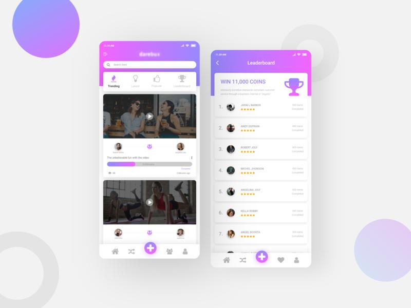 Social Media Video App social media video app uiuxdesign ux-design ui  ux design social media app social app app design app ui ux designer