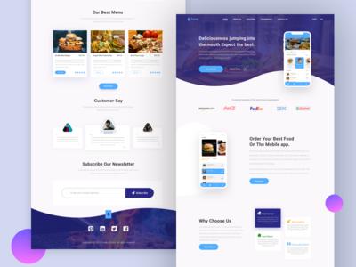 Restaurant app landing page Exploration