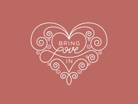 Bring Love In T-Shirt Design