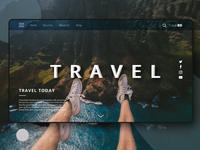Travel Landing Page UI    Web app