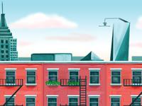 NYC Sky 2 level backgrounds