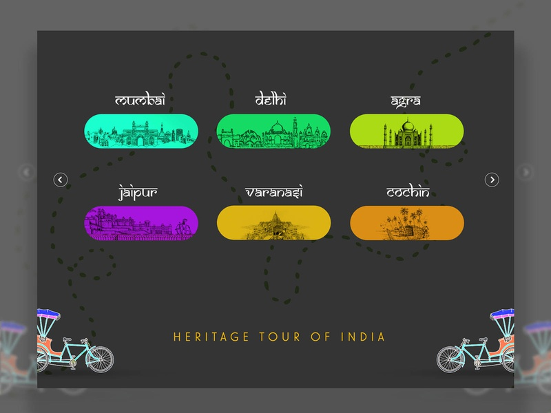 India Travel Buttons