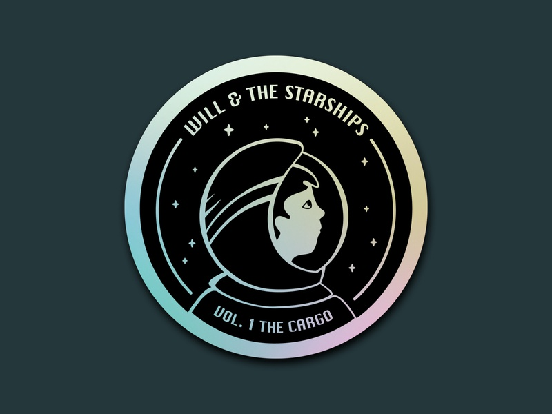 Will & the Starships | Holographic Sticker