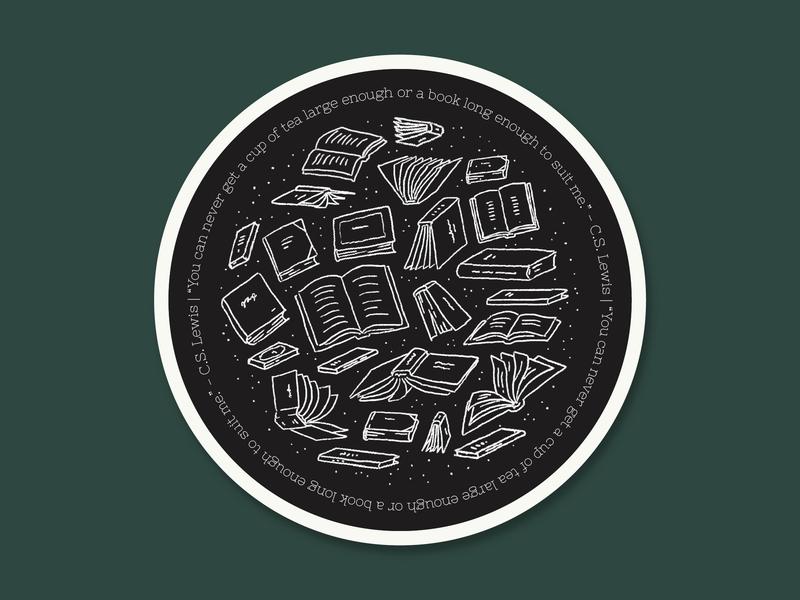 Books + Tea Quote Coaster