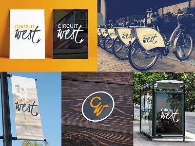 Circuit West Neighborhood Branding mockups logo logo design branding
