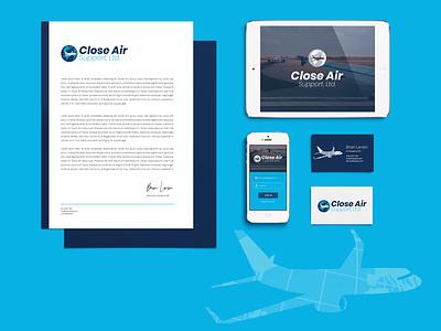 Close Air Support Branding brand mockup airline plane bright illustration rebranding rebrand logo designer graphic design logo discovery mockups logo logo design branding