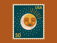 Sun & Moon Postage Stamp