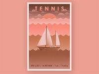 Tennis Music Gig Poster