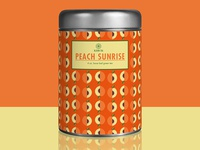 Bloom tea tin - Peach