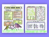 Aviary Cafe Kids Menu