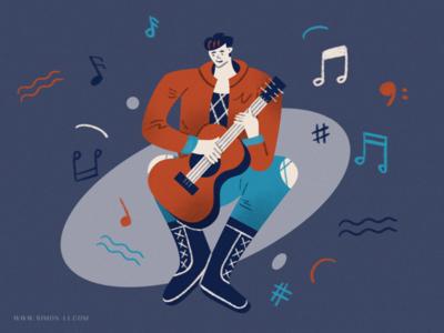 Music person man music guitar