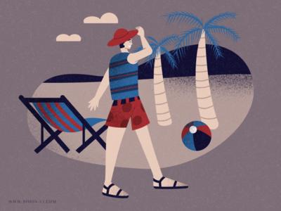 Beach shorts holiday vacation relax tree ball chair sandals summer beach