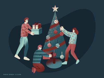 Christmas Tree gifts festival celebration tree