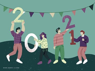 Happy New Year 2021 celebration new year