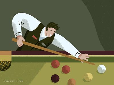 Snooker stick table balls game snooker