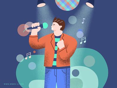 Karaoke music stage karaoke signing singer