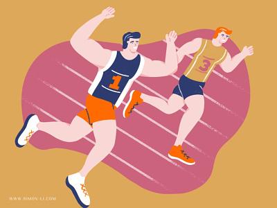Sprint track sports games sprint run
