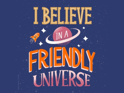 Friendly Universe lettering artist lettering art lettering