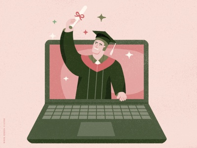 Remote Learning knowledge learning laptop graduation