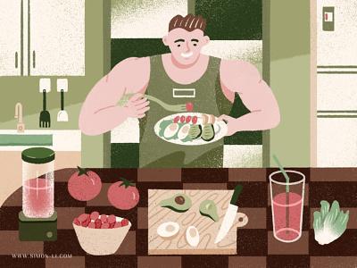 Nutruition bodybuilding salad smoothie food nutrition