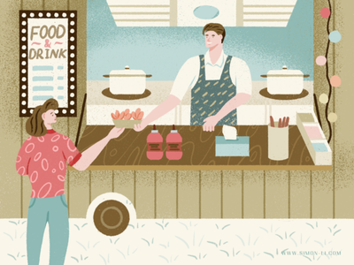 Food Truck kitchen food illustration food and drink foodie snack restaurant customers food foodtruck