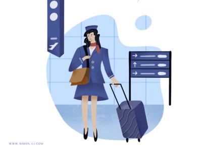 Smile - flight attendant