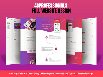 4SProfessionals Full Website Design branding graphic design psd template psd mockup website design landing page design adobe photoshop adobe xd uiux uidesign design