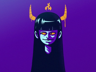 Evil Girl #1 woman girl evil demon draw creative design cartoon photoshop illustration