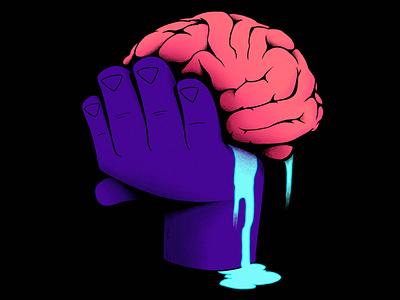 Inktober2019 - Mindless design inktober 2018 hand drawn creative mind cartoon hand brain mindless illustration inktober inktober2019