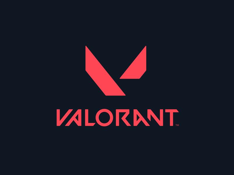 VALORANT v red futuristic future riot valorant video game typogaphy gaming logo