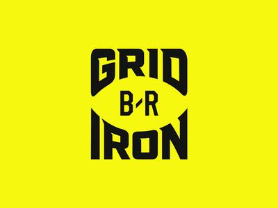 B/R Gridiron logotype football sports logo