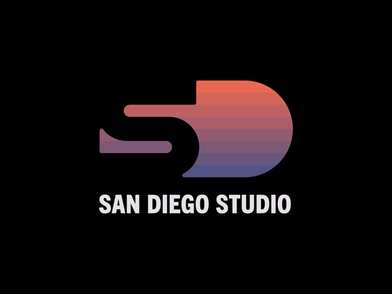 Sony San Diego Studio logotype sony playstation the show mlb video games gaming san diego sunset logo