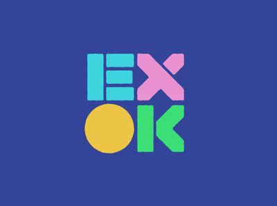 Extremely OK Games custom typogaphy rough games gaming logotype logo