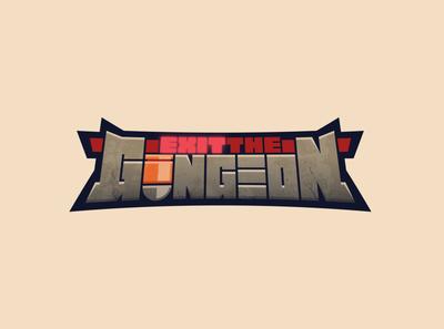 Exit the Gungeon gungeon apple arcade videogame game customtype logotype logo